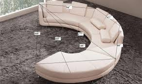 divani casa a94 leather sectional sofa u0026 ottoman in beige free