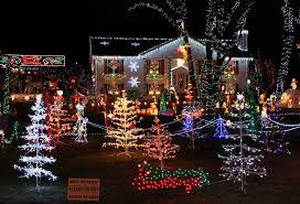 christmas remarkable houseistmas lights porch window and trees