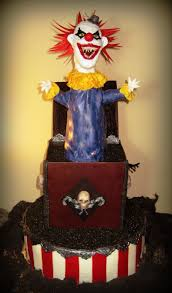 Halloween Cake Topper by Evil Jack In The Box Cake Cakecentral Com