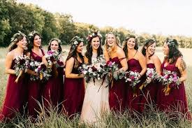 burgundy bridesmaid dresses 55 burgundy bridesmaid dresses for fall winter weddings hi miss puff