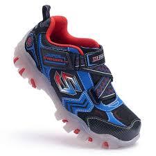 skechers red light up shoes street lightz boys light up athletic shoes skechers blue red