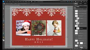 how to make free holiday christmas card edits in photoshop and