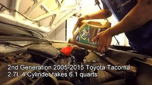 2005 2015 toyota tacoma 2 7l oil change youtube