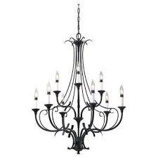 Black Gothic Chandelier Black Chandeliers Hanging Lights The Home Depot