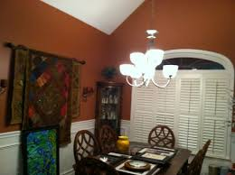 vaulted ceiling in dining room needs help