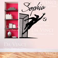 aliexpress com buy soccer player goalkeeper vinyl wall decal aliexpress com buy soccer player goalkeeper vinyl wall decal personalized custom girl name football sport art wall sticker bedroom home decoration from