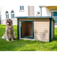 Doghouse For Large Dogs Amazon Com New Age Pet Ecoflex Rustic Lodge Dog House Pet Supplies