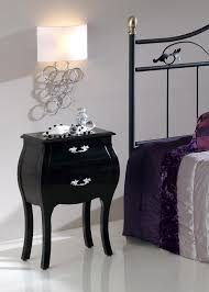 tall black bedside table louis black semi gloss bedside cabinet