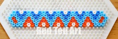 bracelet beads pattern images Hama bead perler bead bracelets red ted art 39 s blog jpg