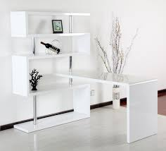 Small Plants For Office Desk by Wondrous Corner White Home Office Design With Single White Desk