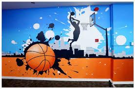 corporate chennai wall painting bankbazaar cafeteria wall mural1