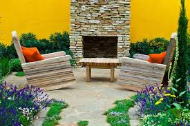 Stacked Stone Outdoor Fireplace - outdoor stone fireplace landscaping network