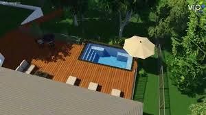 fiberclassy pools 3d pool design palladium plunge 16 youtube