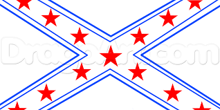 The Southern Flag Drawn Flag The Rebel Flag Pencil And In Color Drawn Flag The