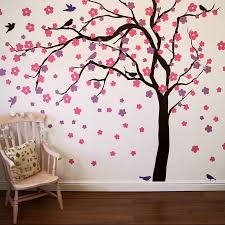 tree wall decals site image tree wall stickers home decor ideas summer blossom simply simple tree wall stickers