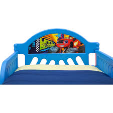 blaze and the monster machines plastic toddler bed by delta