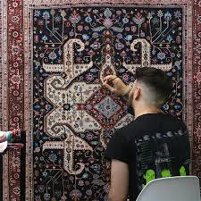 elaborate hand painted persian carpets by jason seife colossal