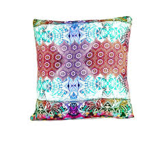 silk pillow in tea party print