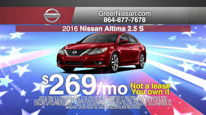 nissan altima for sale riverside ca memorial day sale at nissan of greer youtube