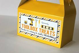 construction birthday party construction birthday party tool box favor box treats