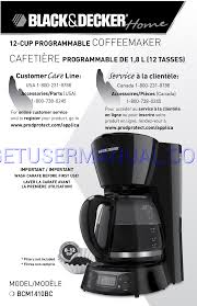 black u0026 decker coffee makers bcm1410bc owner u0027s manual download free