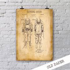 Etsy Laundry Room Decor by Diving Suit Patent Poster Scuba Diving Suit By Hunnapprinthouse