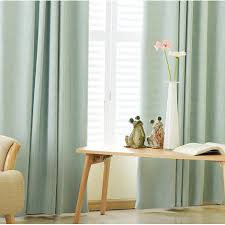 Jacquard Curtain Green Polyester Jacquard Contemporary Curtains For Living Room