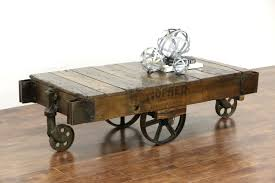 railroad cart coffee table sold industrial 1900 s antique railroad cart or coffee table