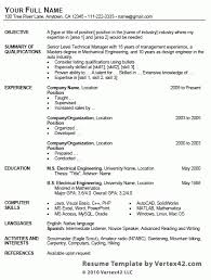 Free Resume Template For Microsoft Word Free Resume Template Microsoft Word 275 Free Microsoft Word