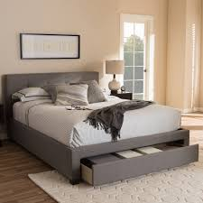 Storage Beds Queen Size With Drawers Baxton Studio Brandy Modern And Contemporary Grey Fabric