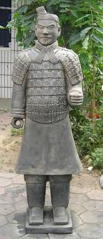 terracotta warrior garden ornament from gardensite sculpture