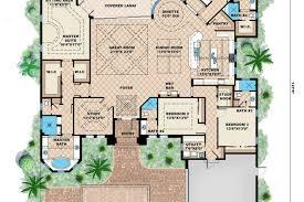 mediterranean style floor plans mediterranean style house plan 4 beds 45 baths 6035 sq hotel