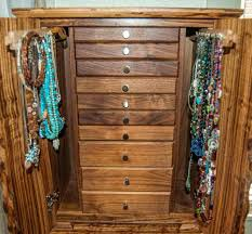 Cherry Computer Armoire by Doll Clothes Armoire Standing Jewelry Furniture Dark Cherry