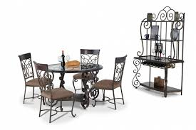 Bobs Furniture Dining Table Dining Room The Kenzo 7 Piece Set Bobs Discount Furniture For