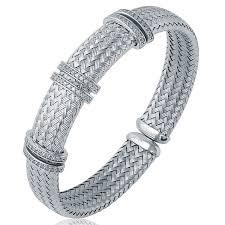 silver woven bracelet images Ferrara sterling silver woven bracelet gif