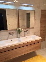 Timber Bathroom Vanity Ibiza 1500mm White Oak Timber Wood Grain Wall Hung