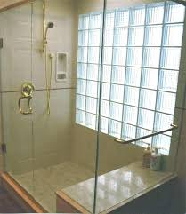 glass block bathroom ideas bathroom glass wall paml info