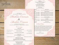 Wedding Program Paddle Fan Template Confetti Pouch In Order Of Service Order Of Service Pinterest