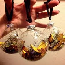 ornament using dried flowers from the funeral service