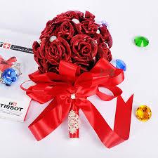 Dark Red Flower - online get cheap dark red flowers wedding aliexpress com