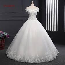 Off The Shoulder Wedding Dresses Aliexpress Com Buy Vivian U0027s Bridal A Line Wedding Dress Off