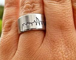 nyc wedding band new york ring etsy