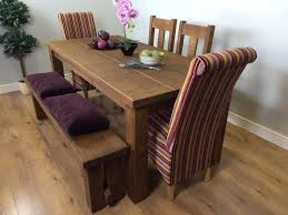 used wood dining table fascinating solid wood dining table have 4 dining chairs with bench