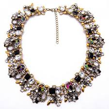 multi colored necklace images Zenia mulicolor borealis holographic cluster statement necklace jpg
