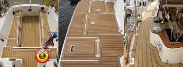 synthetic teak decking for boats dek king boat teak flooring