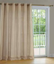 Insulated Patio Curtains Homespun Linen Lined U0026 Interlined Grommet Patio Panel With