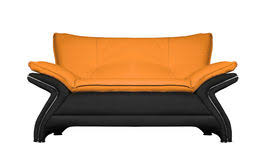 yellow leather sofa royalty free stock photos image 2867598