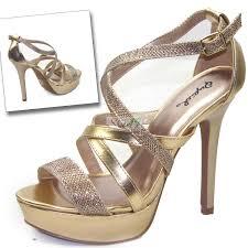 qupid glitter 121x champagne strappy sandals