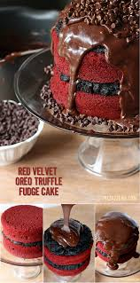 red velvet oreo truffle chocolate cake recipe cakes and more