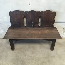 rare monterey furniture church pew bench u2013 urbanamericana